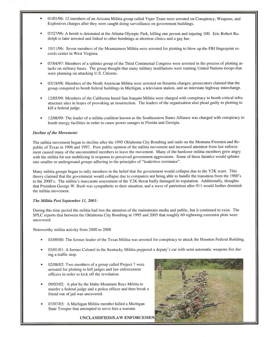 Missouri Information Analysis Center (MIAC) Report on the Modern Militia Movement (page 2)