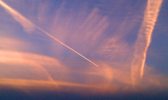 Chemtrails over sunset