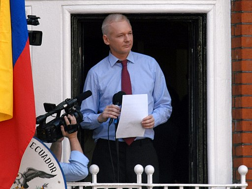 Julian Assange in Ecuadorian Embassy in 2012