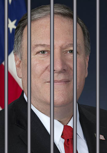 Mike Pompeo behind prison bars