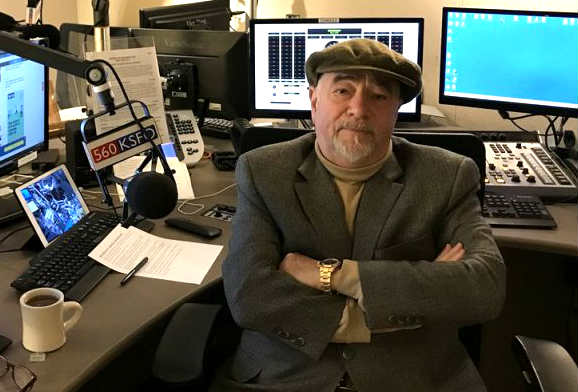Michael Savage in his broadcast studio.