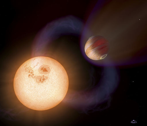 Artists impression of an ultra-short-period planet