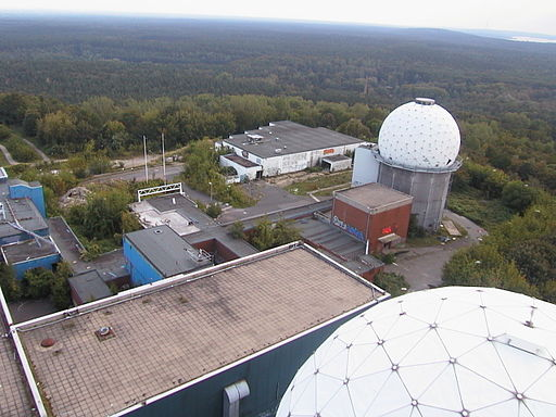 Berlin Teufelsberg NSA Field Station look down from big tower - panoramio
