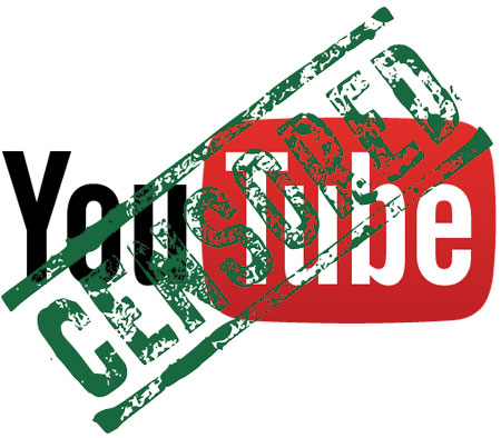 youtube logo with censored stamped over it