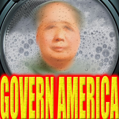 Mao Zedong in a washing machine.