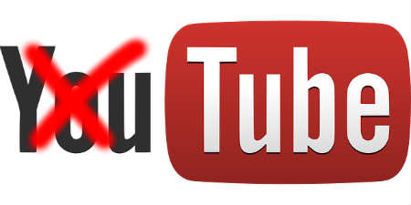 "YouTube logo with ""You"" crossed out"